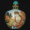 Snuff bottle with enamel painting
