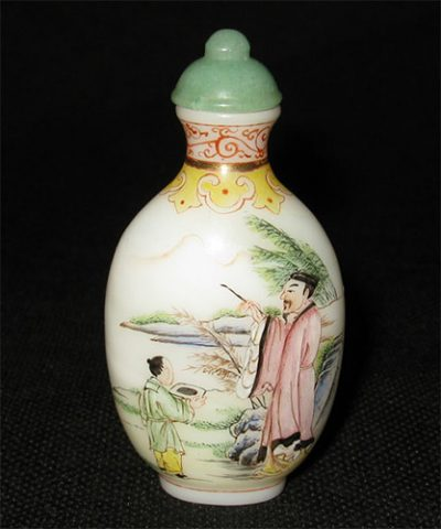 Milky white Snuff Bottle