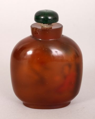Agate style glass snuff bottle 3