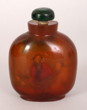 Agate style glass snuff bottle