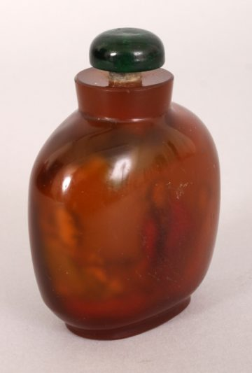 Agate style glass snuff bottle 4