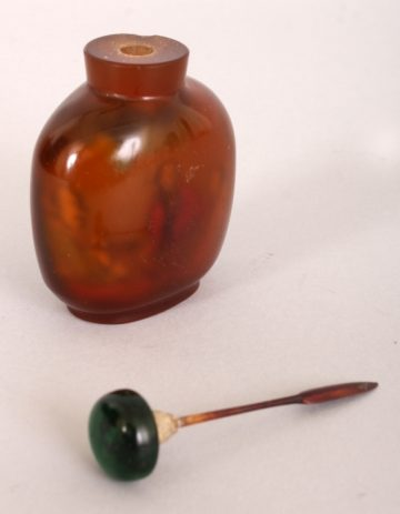 Agate style glass snuff bottle 5