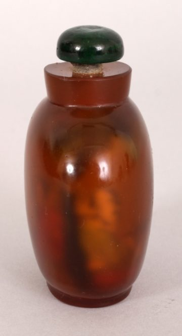 Agate style glass snuff bottle2