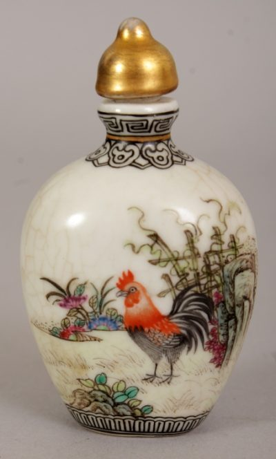 Single snuff bottle from Zodiac box Rooster