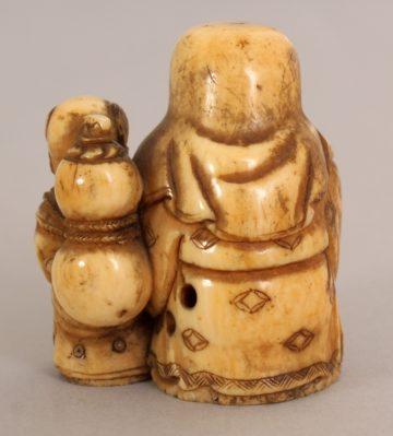 Japanese ivory Okimono of a Fukurokuju 2