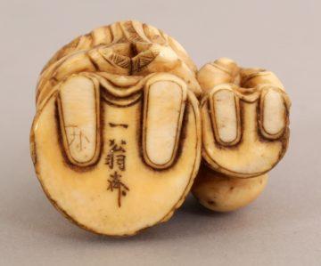 Japanese ivory Okimono of a Fukurokuju 3