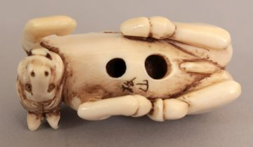 Netzuke carved ivory horse 3