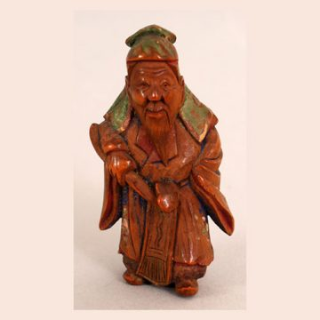 Painted-wood-netsuke-of-chinese-sage-front